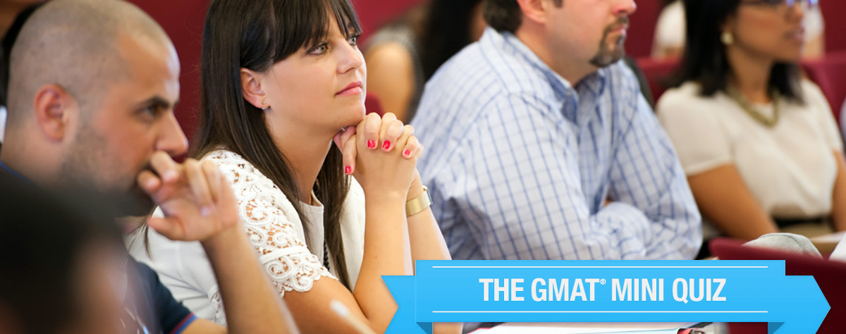 Global MBA GMAT Quiz