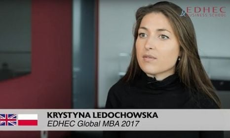 Student testimonial : Krystyna LEDOCHOWSKA