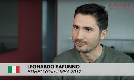 Student testimonial : Leonardo BAFUNNO